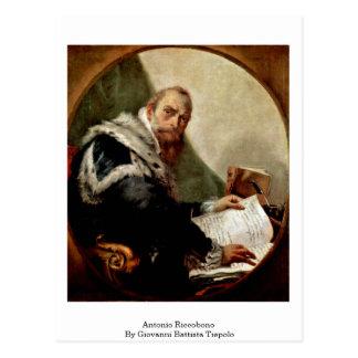 Cartão Postal Antonio Riccobono por Giovanni Battista Tiepolo