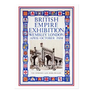 Cartão Postal Anúncio 1924 da exposição do Império Britânico do