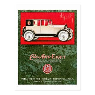 Cartão Postal Anúncio aero-Oito do carro vintage do Cole