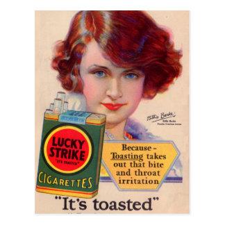 Cartão Postal Anúncio afortunado de 1929 greves com Billie Burke