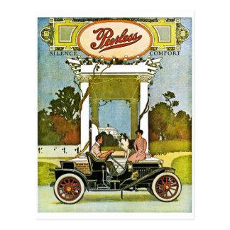 Cartão Postal Anúncio clássico do carro do vintage de Sem par