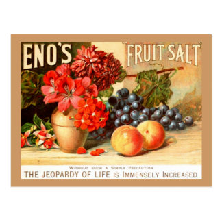 Cartão Postal Anúncio colorido de sal da fruta