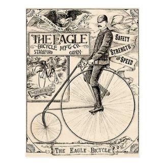 Cartão Postal Anúncio da bicicleta do Victorian de Pennyfarthing