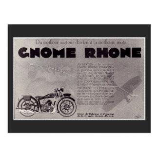 Cartão Postal Anúncio da motocicleta de 1929 franceses, Paris