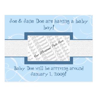 Cartão Postal Anúncio do bebé