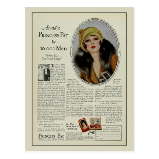Cartão Postal Anúncio do compartimento dos cosméticos do 1920 do