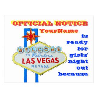 Cartão Postal Anúncio do estilo de Las Vegas do divórcio