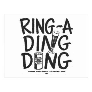 Cartão Postal Anúncio do tempo da cerveja de Anel-um-Ding Ding