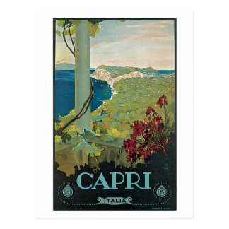 Cartão Postal Anúncio do viagem de Capri Italia do vintage