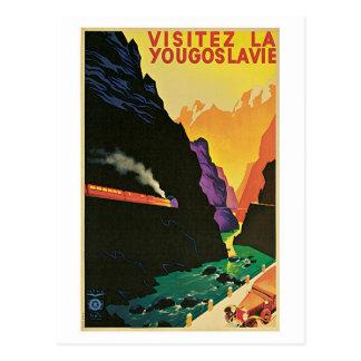 Cartão Postal Anúncio do viagem de Jugoslávia da visita dos anos