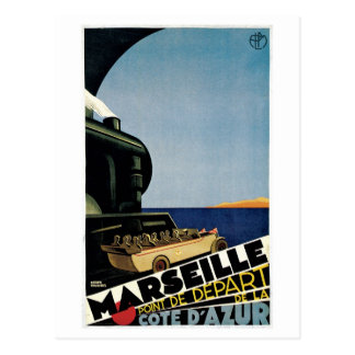 Cartão Postal Anúncio do viagem de Marselha Cote d'Azur do