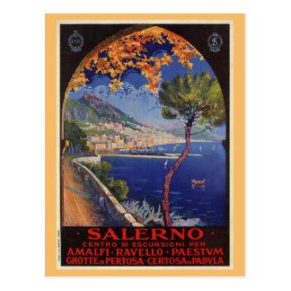 Cartão Postal Anúncio do viagem do verão do vintage de Salerno
