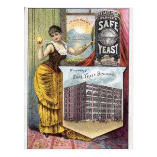 Cartão Postal Anúncio do vintage do fermento