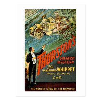 Cartão Postal Anúncio do vintage do mistério de Thurston o