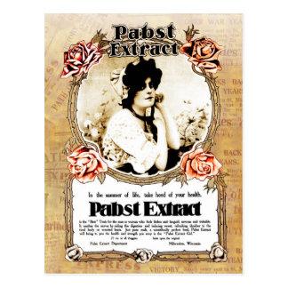 Cartão Postal Anúncio do vintage - o melhor extrato do tónico