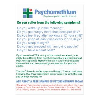 Cartão Postal Anúncio farmacêutico engraçado da medicamentação