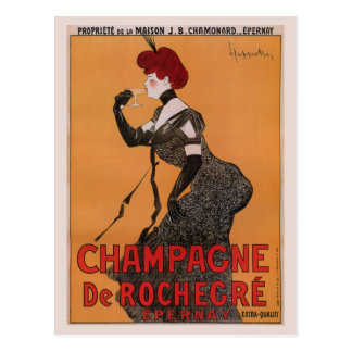 Cartão Postal Anúncio francês do champanhe do nouveau lindo da