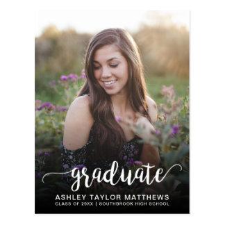 Cartão Postal Anúncio graduado da graduação da foto da