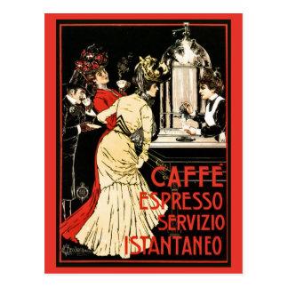 Cartão Postal Anúncio italiano do café do café do Victorian do