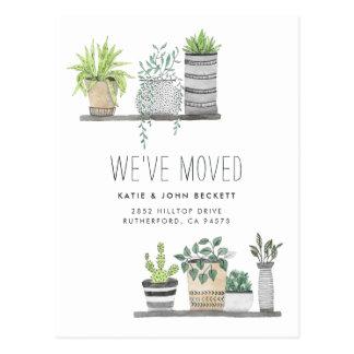 Cartão Postal Anúncio movente crescido jardim de |