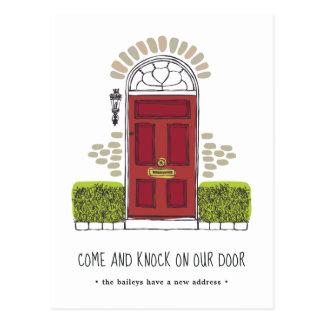 Cartão Postal Anúncio movente da porta vermelha