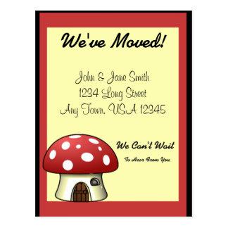 Cartão Postal Anúncio movente do cogumelo