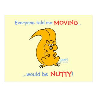 Cartão Postal Anúncio movente do esquilo cómico