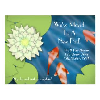Cartão Postal Anúncio movente feliz de Koi