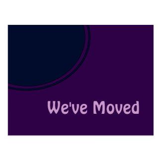 Cartão Postal Anúncio movente moderno roxo escuro