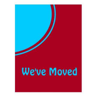 Cartão Postal Anúncio movente moderno vermelho de turquesa