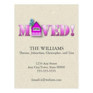 Cartão Postal Anúncio movido (roxo)