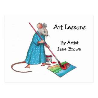 Cartão Postal Anúncio para lições da arte: Senhora Rato Pintura