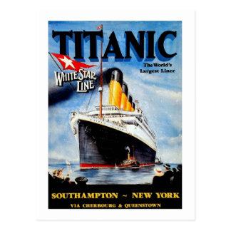 Cartão Postal Anúncio titânico do viagem do RMS