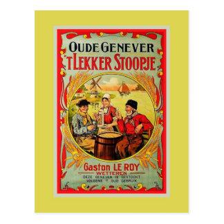 Cartão Postal Anúncio velho de Genever do Flemish do vintage