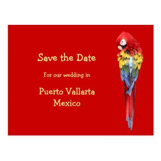 Cartão Postal Anúncios vermelhos exóticos do casamento do