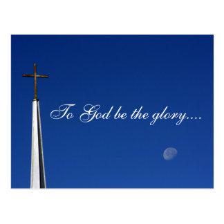 Cartão Postal Ao deus seja a glória….