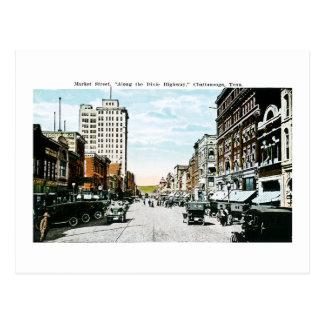 """Cartão Postal """"Ao longo da estrada de Dixie"""", Chattanooga, Tenn."""