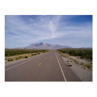 Cartão Postal Ao longo da estrada - EL Capitan - montanhas de
