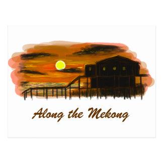 Cartão Postal Ao longo do Mekong
