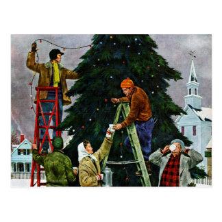 Cartão Postal Aparamento da árvore de Natal