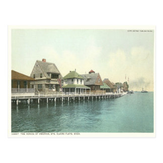 Cartão Postal Apartamentos Detroit Michigan de Sainte Claire do