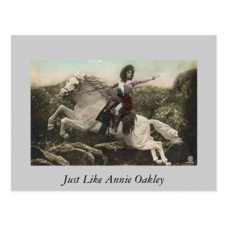 Cartão Postal Apenas como Annie Oakley