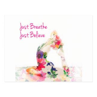 Cartão Postal Apenas respire a série da ioga