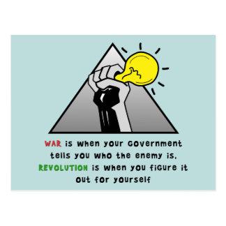 Cartão Postal Aperte a solidariedade do punho contra a tirania