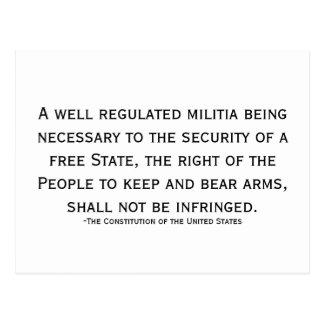 Cartão Postal Apoie a preservação da liberdade!