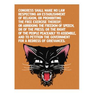Cartão Postal Apoie e defenda a constituição