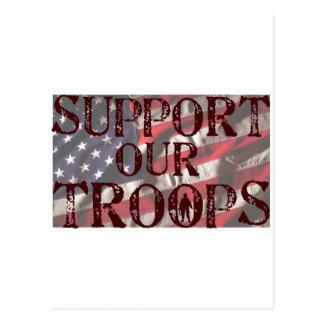 Cartão Postal apoie nossa cópia das tropas