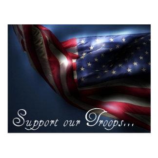 Cartão Postal Apoie nossas tropas…