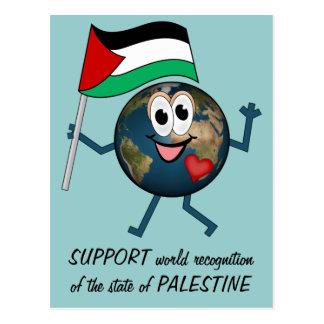 Cartão Postal Apoie o reconhecimento do mundo do estado de