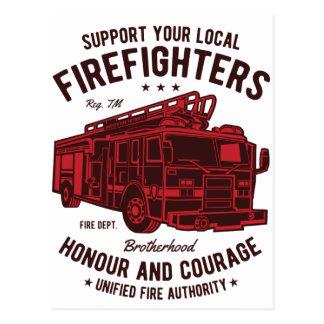 Cartão Postal Apoie seus bombeiros locais